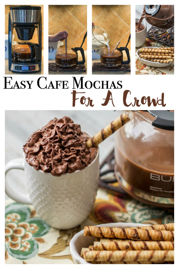 Brew your own Cafe Mochas in your coffee pot! Simple recipe shows how to wow your guests and channel your inner barista! #PerfectCoffeeAtHome #ad