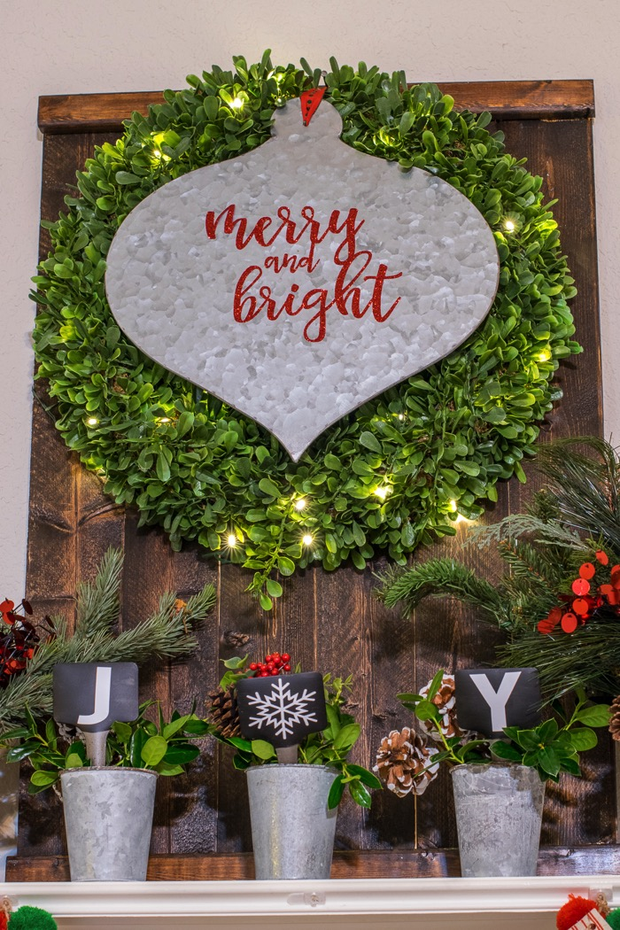 An amazingly simple 2016 Holiday House Tour inspired by Fixer Upper. Features classic colors: red, green and white with items purchased in Waco. CUTE!