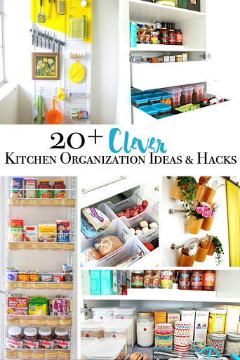 20 Plus Clever Kitchen Organization Ideas and Hacks