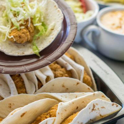 #AD Tyson® Crispy Chicken Strip Tacos With Queso