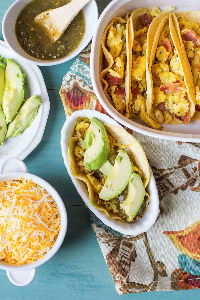 avocado on breakfast tacos