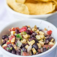 3 Pepper Black Bean and Roasted Corn Salsa