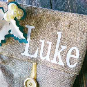 Personalized stocking with a cricut machine