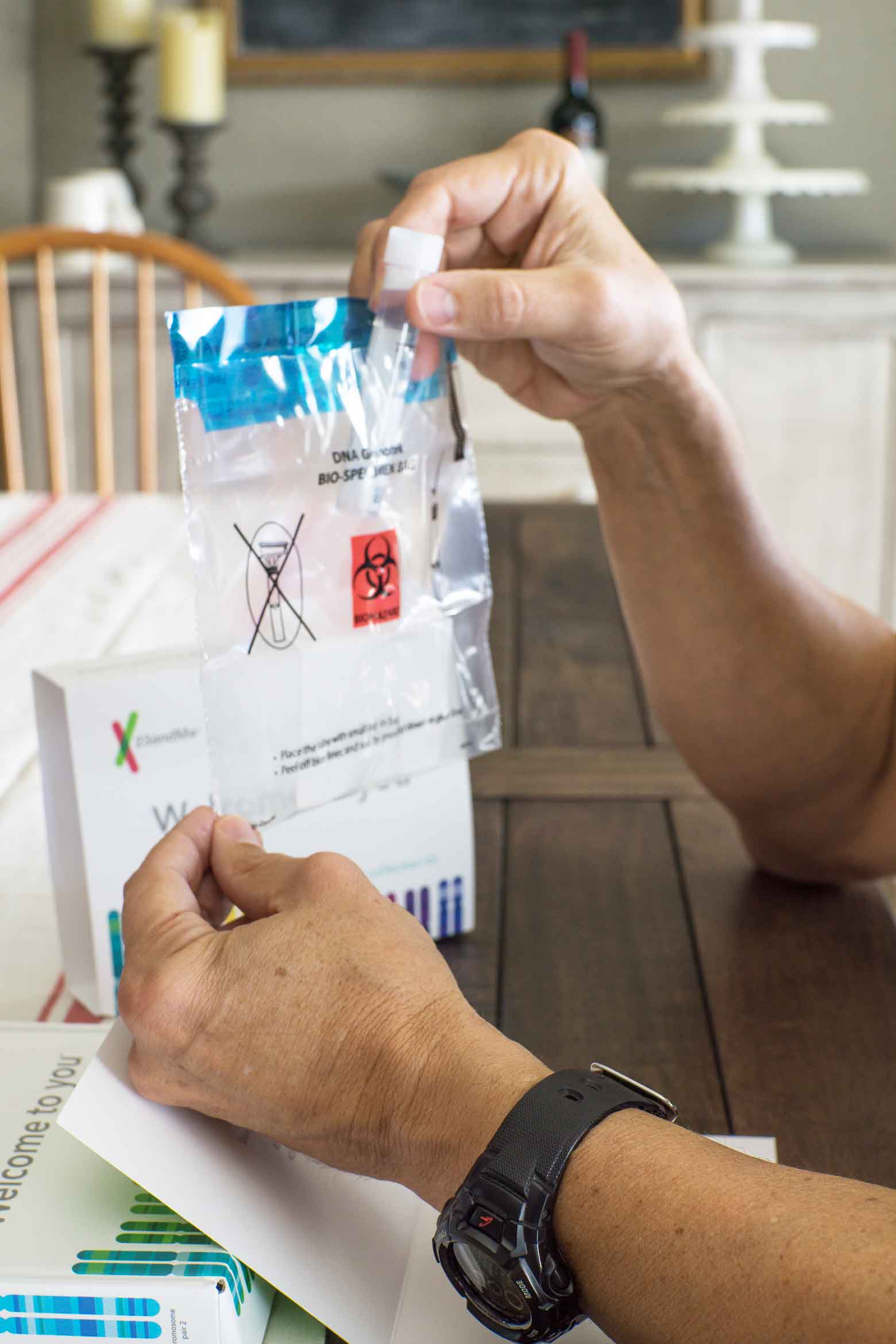 how to mail in a DNA test