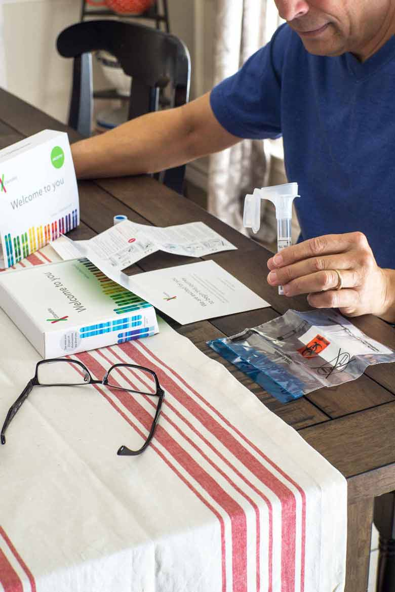 Lay everything out before taking a DNA test at home