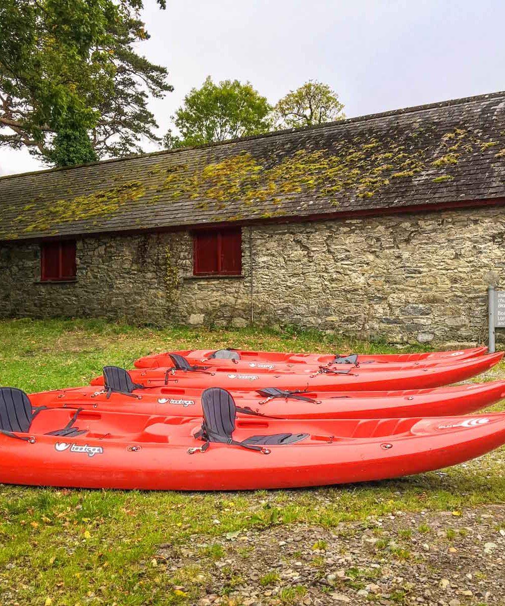 kayaks on Ross Island County Kerry Ireland