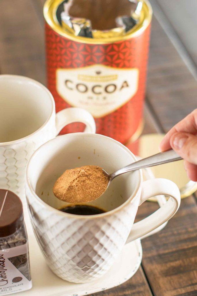 hot cocoa as mocha mix