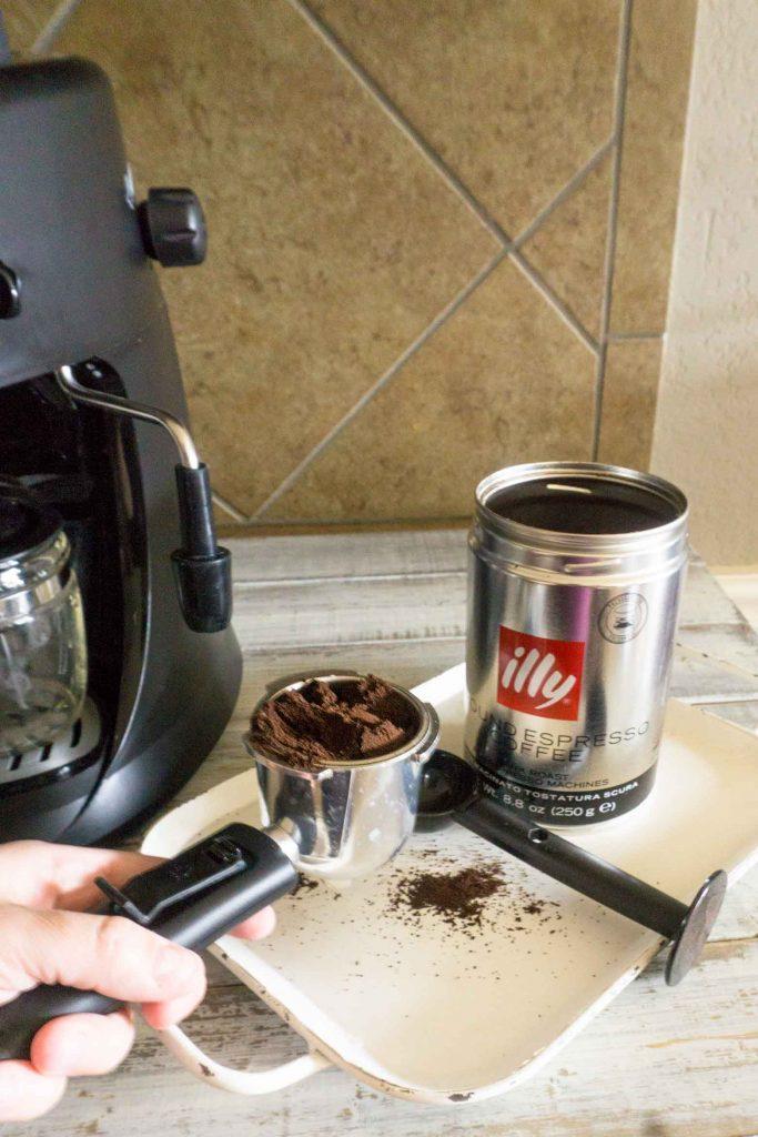Adding espresso grounds to capresso machine