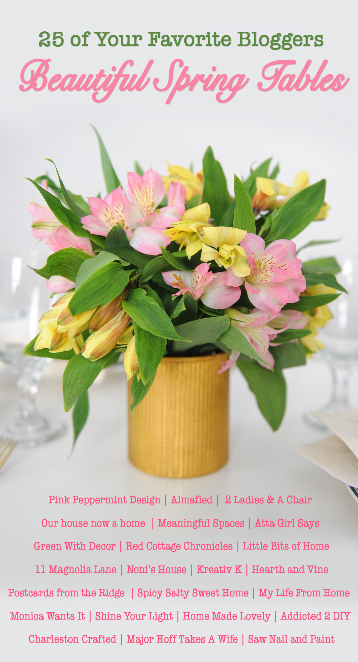 Beautiful spring table tour blog hop