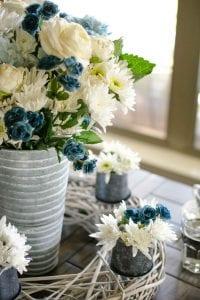 spring floral centerpiece for a tablescape