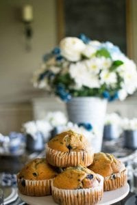 blueberry muffins for spring decor
