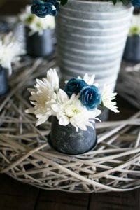 blue and white spring floral mini buds