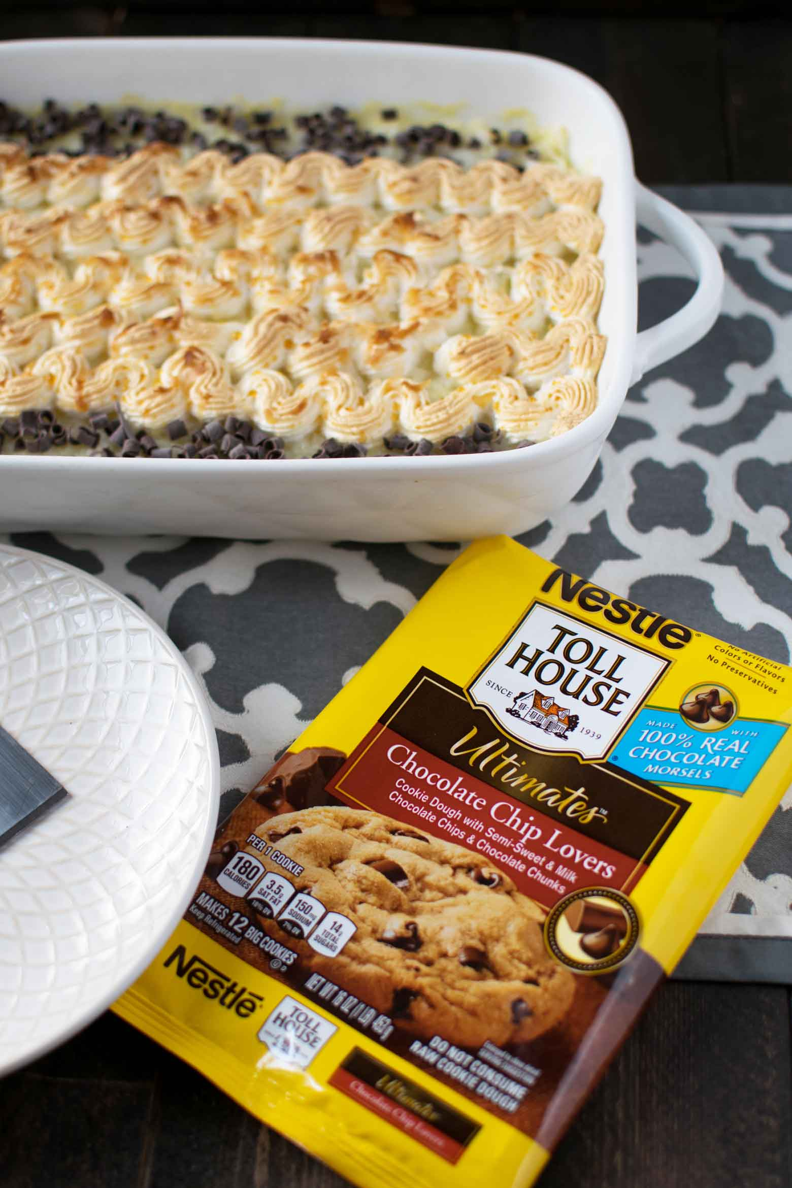 coconut cookie bars using remade cookie dough
