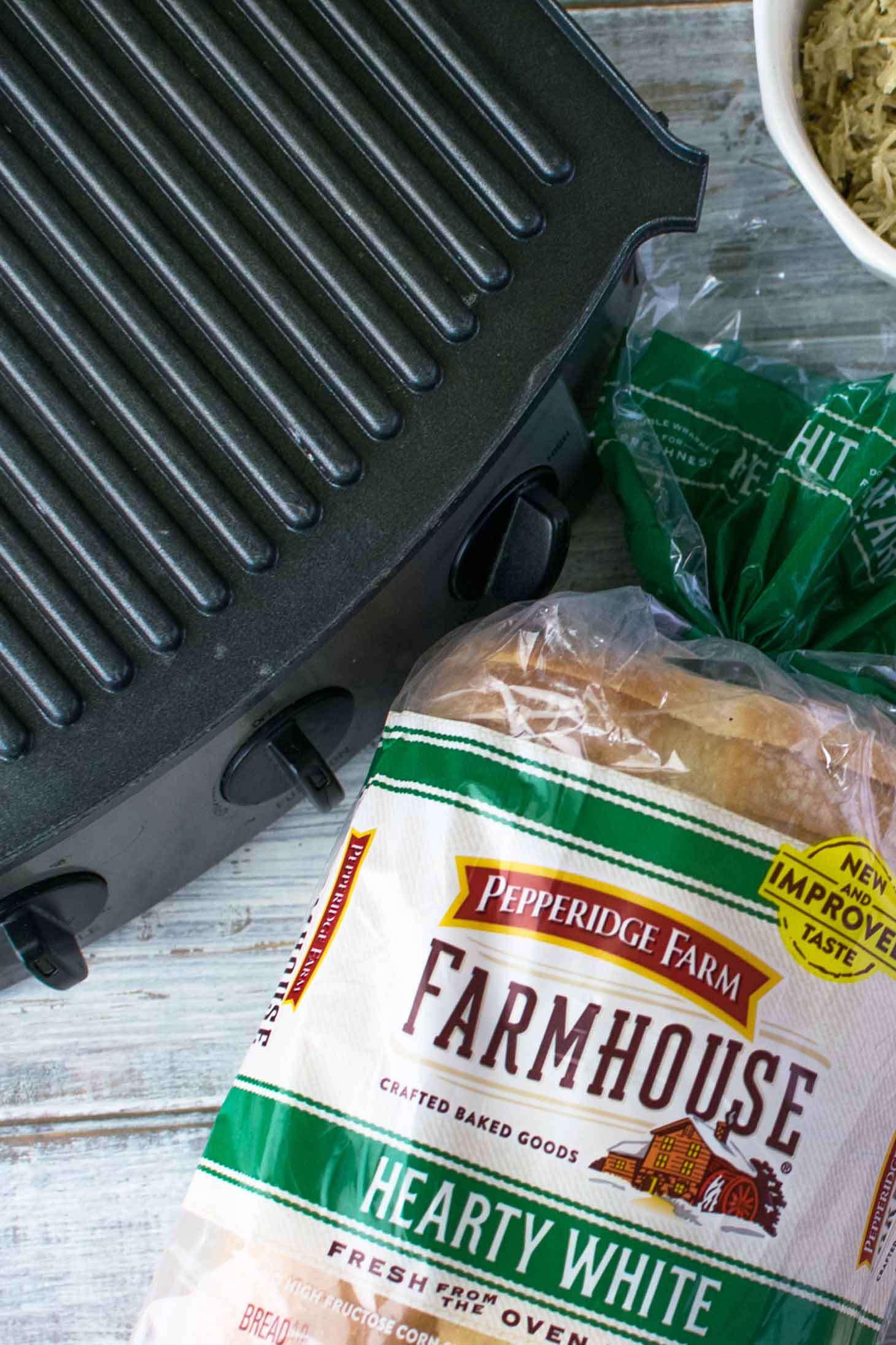 Pepperidge Farm® Farmhouse Hearty White Bread is perfect for making panini sandwiches