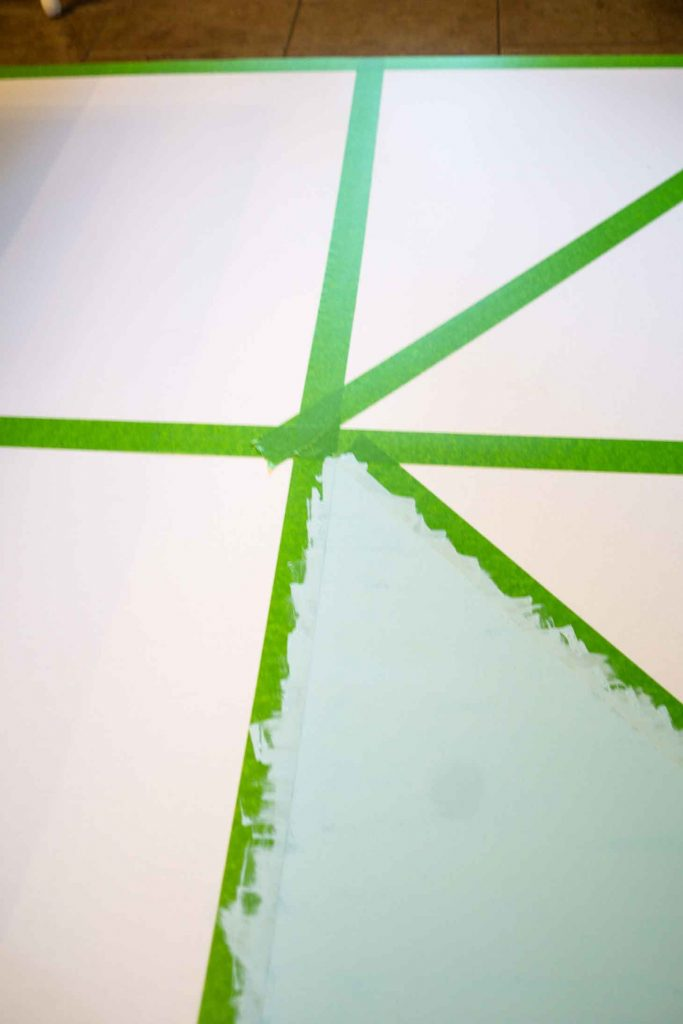 Frog tape makes crisp lines on wall art a breeze