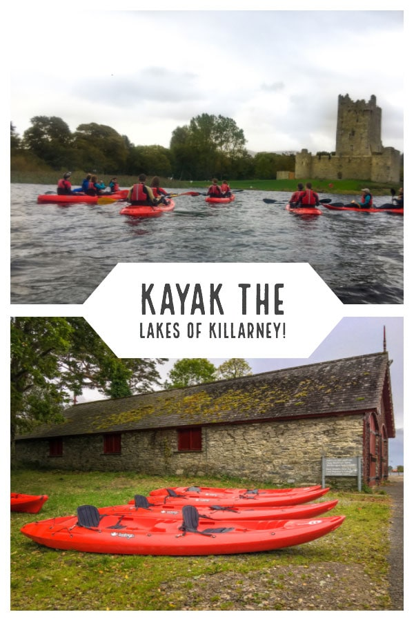 The Lakes of Killarney are not to be missed, and seeing them by kayak gives you an fantastic view point. Our adventure lead us by Ross Castle and over Lough Leane, where we floated under stone arched bridges, and got up close to secluded islands. #Sponsored #VisitIreland #Ireland #kayak #TBEXIreland