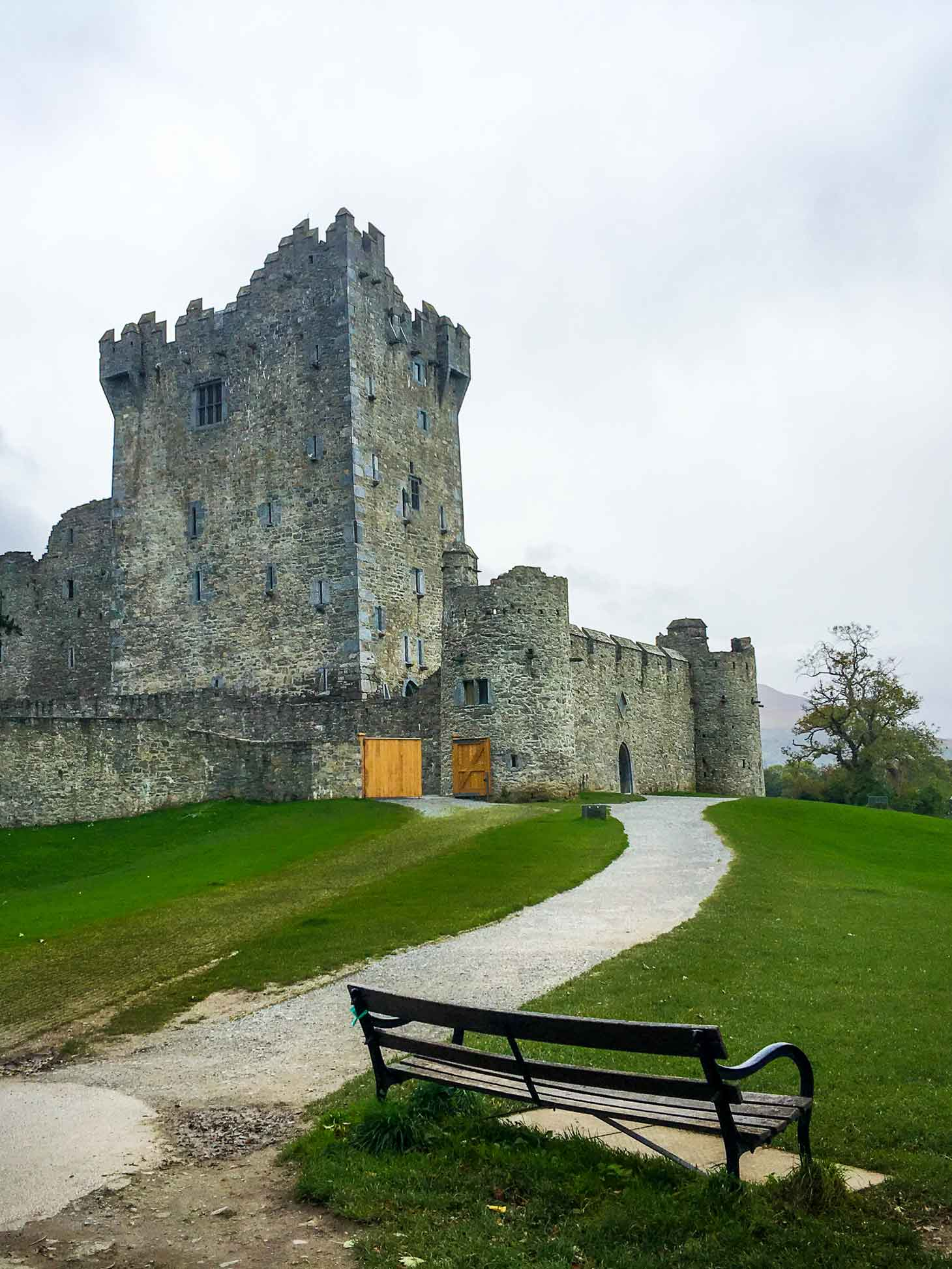 Ross Castle on the shores of the Lakes of Killarney