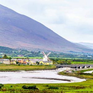 The Blennerville windmill in County Kerry as seen form the Wetlands observation deck.