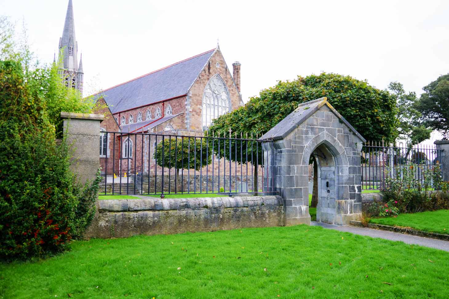 The rear of St Johns Church in Tralee County Kerry as seen from The Green.
