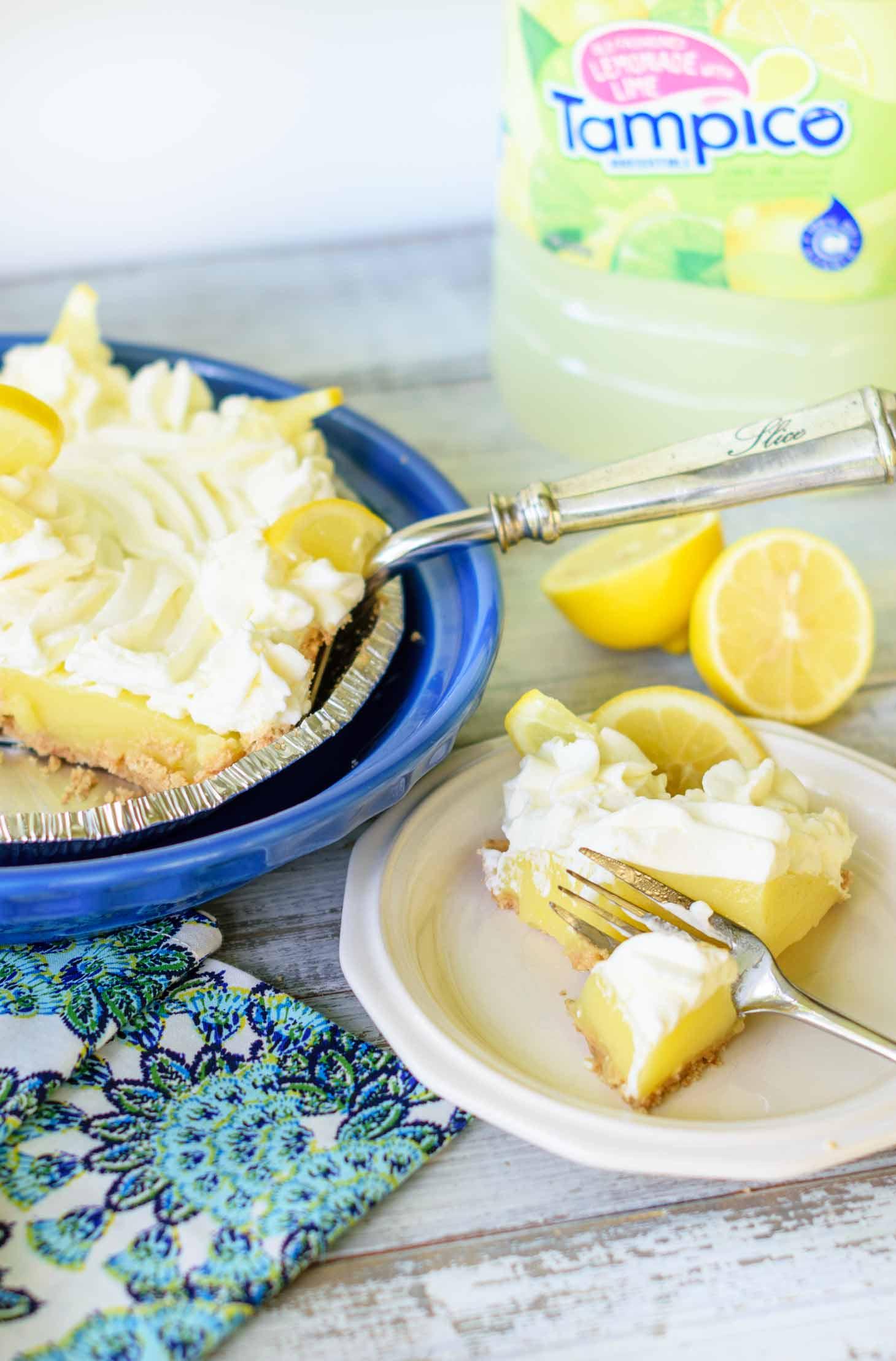 Easy lemon pie filling is the secret to this lemon icebox pie