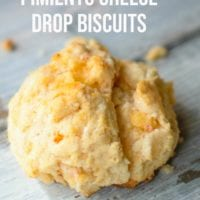 Pimiento cheese drop biscuits are moist and crumbly
