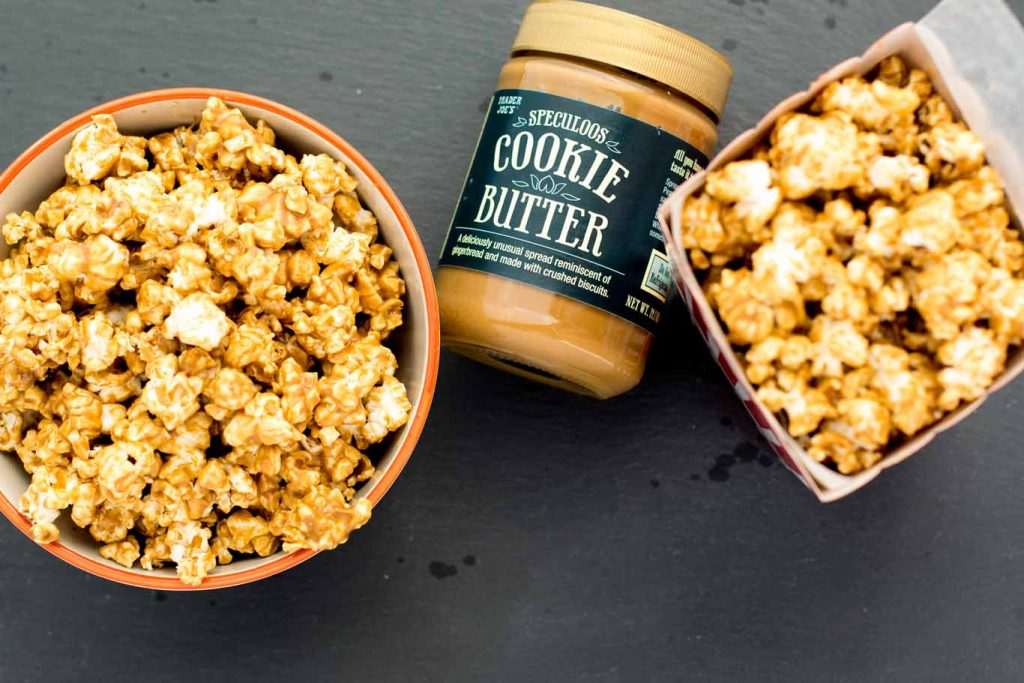 Speculoos Cookie Butter in a popcorn recipe.