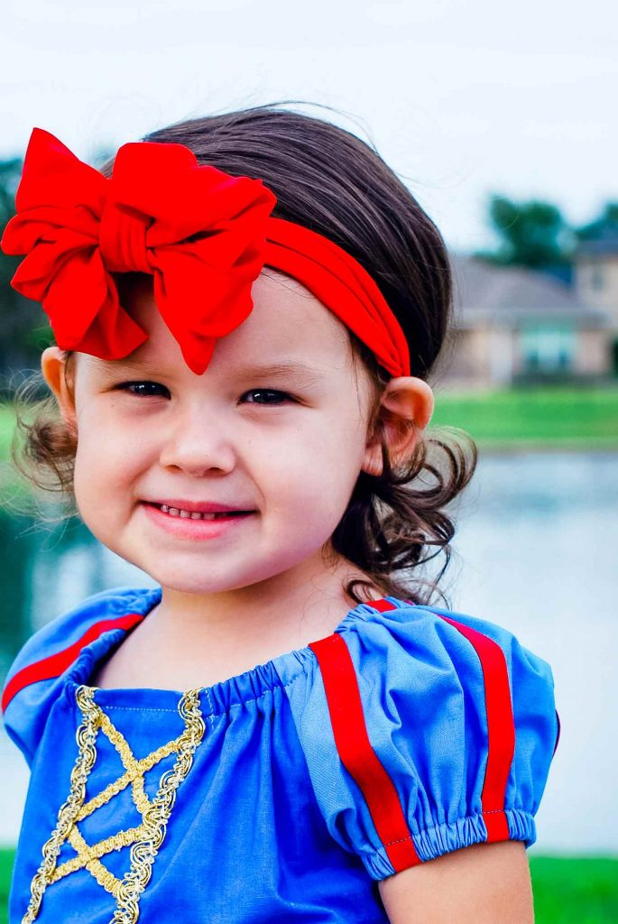 homemade Snow White's dress costume for a girl