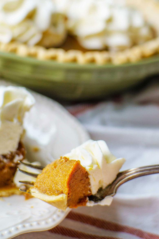 pumpkin pie with molasses recipe for Thanksgiving dessert