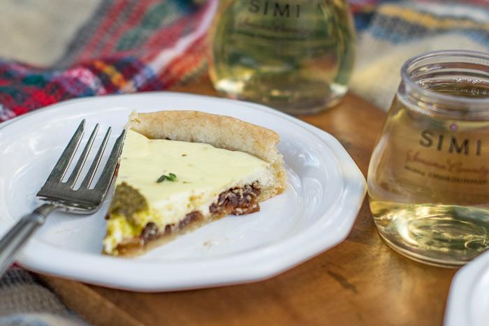 Onion and goat cheese tart wine pairing