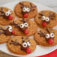 Easy Gingerbread Reindeer Cookies Major Hoff Takes A Wife Family
