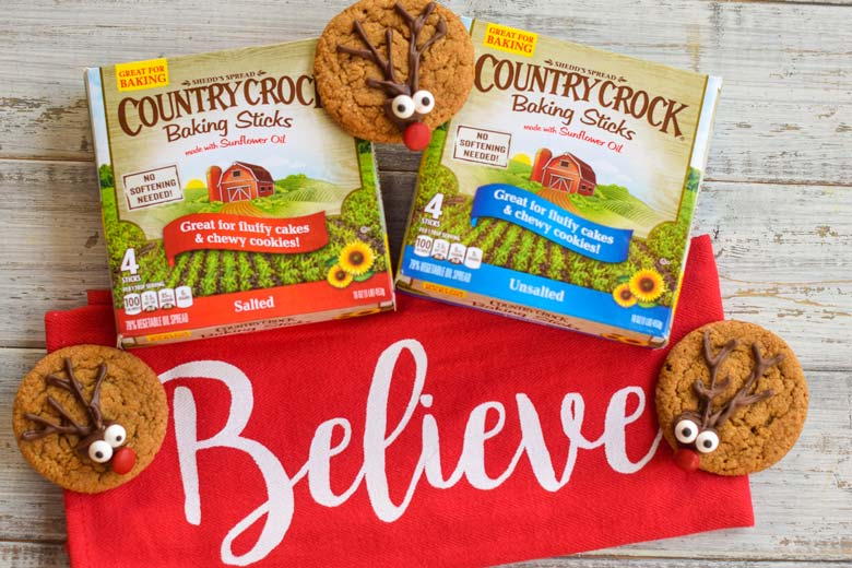Country crock baking sticks require no thawing, which is perfect for cooking holiday cookies