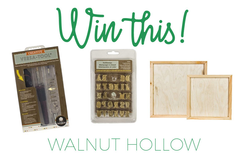 Walnut hollow giveaway versa-tool, letters and blank boards