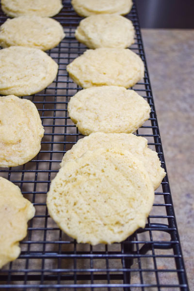 eggnog cookies are done when solid but not browning yet